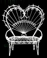 Heart Shaped Wrought Iron Love Seat