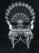 Wrought Iron Single Rounded Back Chair